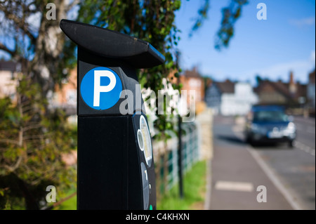 Parking meter in Ludlow Shropshire UK - Stock Photo