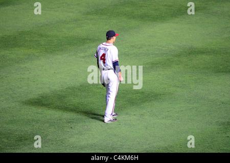 Atlanta, Georgia - June 16, 2011: Joe Mather of the Atlanta Braves Baseball Team.