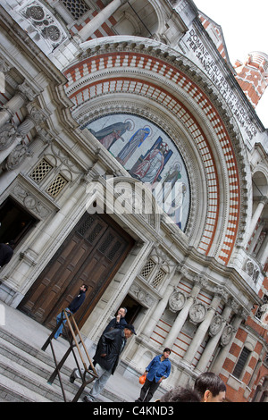 External view of Westminster cathedral in London. - Stock Photo