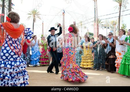 dancers in Spain at festival - Stock Photo