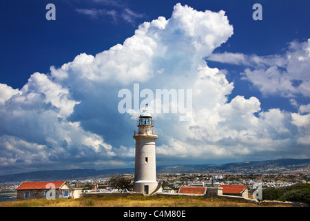 Paphos lighthouse,Archaeological Park,Pafos,Paphos,Cyprus - Stock Photo