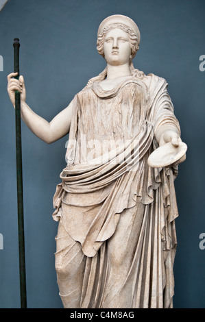 Statue of Divinity / Borghese Hera/ in the museums of Vatican, Vatican city - Stock Photo