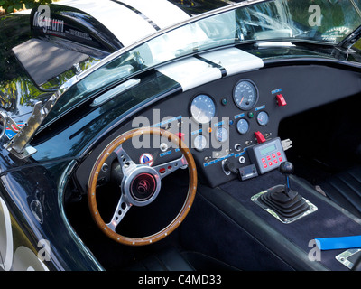 AC Cobra 427 cockpit dashboard race rallye equipped - Stock Photo
