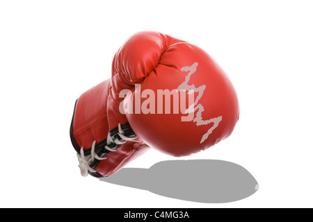 Boxing Gloves as a Symbol of Financial Crisis - Stock Photo
