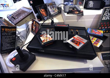 Games video games atari 2600 video computer system early video stock photo 33628946 alamy - Original atari game console ...
