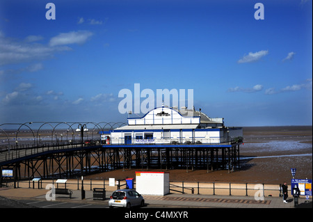 Cleethorpes Pier 39 a traditional victorian pier which is now a nightclub - Stock Photo
