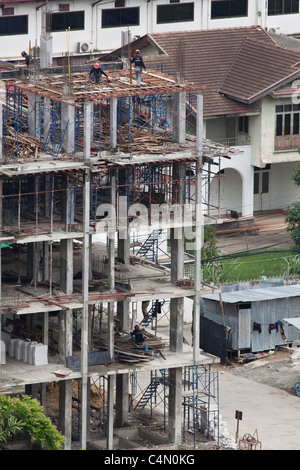 Building under construction in Thailand - Stock Photo