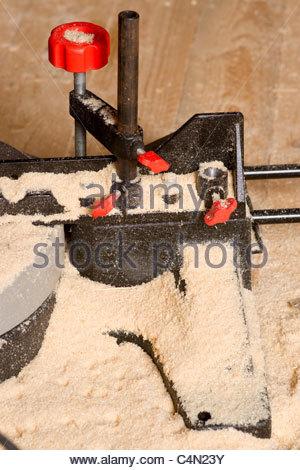 Power Miter saw chop saw - Stock Photo