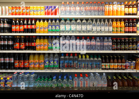 Soft Drinks In The Fridge Of A Shop Stock Photo 80747142