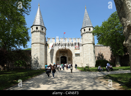 Entrance gate to the Topkapi Palace in Istanbul, Turkey. Photo taken at 25th of Mai 2011 - Stock Photo
