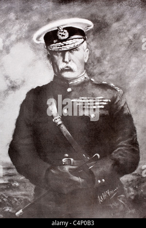 Field Marshal John Denton Pinkstone French, 1st Earl of Ypres, 1852 to 1925, aka The Viscount French between 1916 - Stock Photo