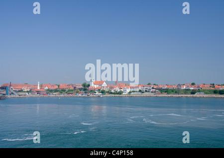 Denmark, Island of Bornholm. Historic city of Ronne. The largest city on the island of Bornholm. - Stock Photo