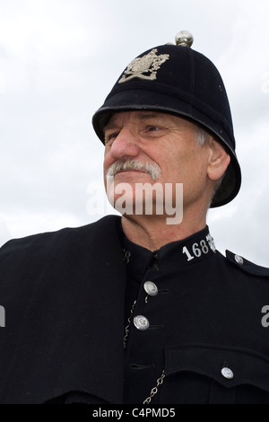 British Policeman _ Costumed Re-enactors _Events and Competitors at the Cheshire Game & Country Fair Show, Knutsford, - Stock Photo