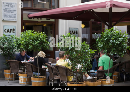 Cafe Hawelka, Vienna, Austria - Stock Photo