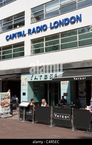 Global Radio, owners of Capital Radio, Leicester Square, London, England - Stock Photo