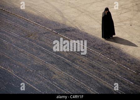 Iranian woman in Zanjan, Iran - Stock Photo
