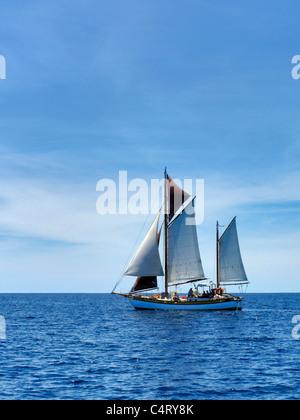 Sailboat near St. John Virgin Islands. - Stock Photo