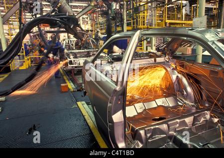 Automated car factory, Sao Paulo State, Brazil. - Stock Photo