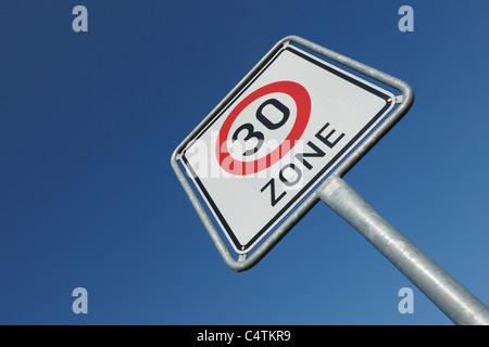 Traffic Sign, Hesse, Germany - Stock Photo