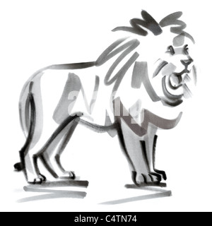 Leo astrological sign, illustration - Stock Photo