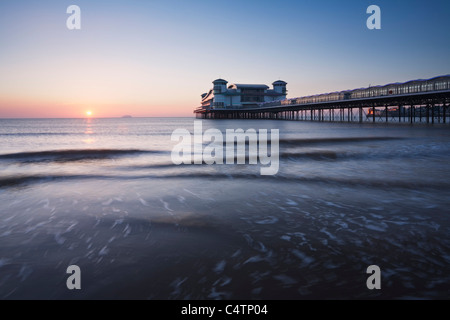 The New Grand Pier at Weston-super-Mare, rebuilt and opened in 2010 after the fire of 2008. Somerset. England. UK. - Stock Photo