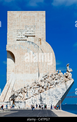 Europe, Portugal, Monument to the Discoveries in Lisbon - Stock Photo