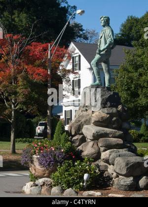 Massachusetts, Lexington, Lexington Green, Minuteman statue