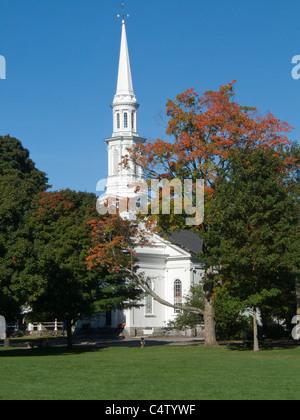 Massachusetts, Lexington, Lexington Green, Unitarian Church 1847