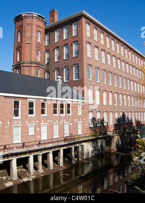 Massachusetts, Lowell National Historic Park, Booth Cotton Mills - Stock Photo