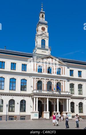 Riga City Council, Rigas Dome, Town Hall Square, Ratslaukums, Old Town, Vecriga, Riga, Latvia - Stock Photo