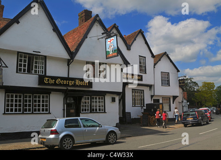 The George Hotel, Dorchester-on-Thames, Oxfordshire. - Stock Photo