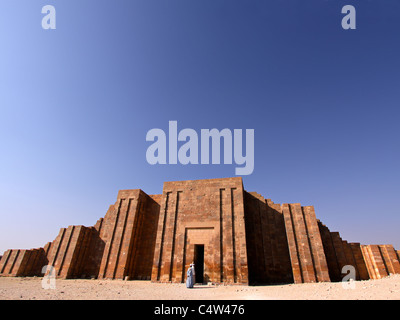 The outer wall of the complex of the Egyptian king Zoser founder of the third  dynasty 2750 BC. built by the legendary - Stock Photo