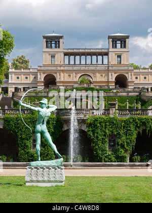 Gardens and sculpture  at SansSouci in Potsdam Germany - Stock Photo