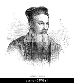 Clément Marot 23 November 1496 to 12 September 1544 was a French poet of the Renaissance period. - Stock Photo
