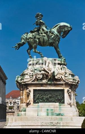 Memorial for Prince Eugene of Savoy, Budapest, Hungary, Europe - Stock Photo