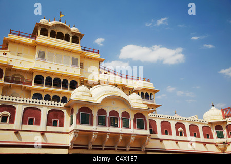 Chandra Mahal, City Palace, Jaipur, Rajasthan, India - Stock Photo
