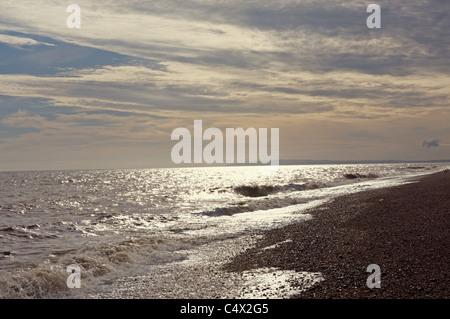 English channel off the Kent coast, UK. - Stock Photo