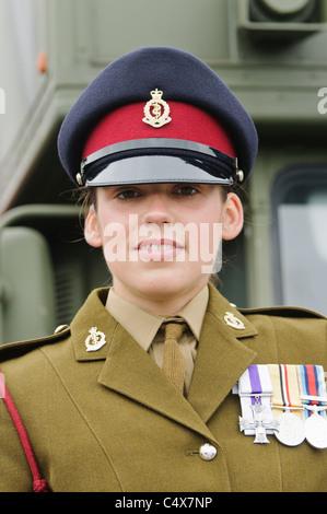 Carrickfergus, Northern Ireland. 26 June 2011 - Lance Corporal Kylie Watson (24), from Ballymena, who was awarded - Stock Photo