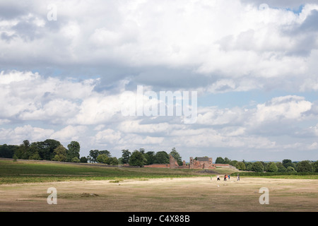 Children play in the sun at Bradgate Park, Leicestershire. - Stock Photo