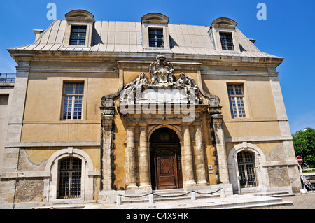 The impressive gate of the Corderie, built in 1686 by Vauban for rope making, came from the ancient royal college - Stock Photo