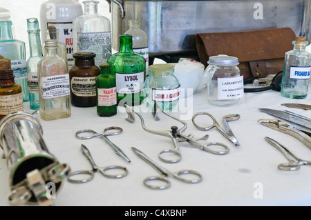 Surgical equipment from World War 1 - Stock Photo