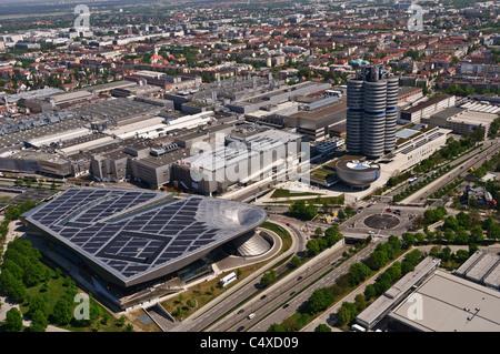 BMW Headquarters and BMW Welt (BMW World) - Munich, Germany - Stock Photo