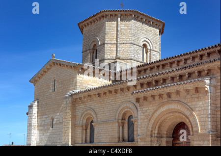 Romanesque church of San Martin de Tours, Fromista, Valladolid, Castile and Leon, Spain - Stock Photo