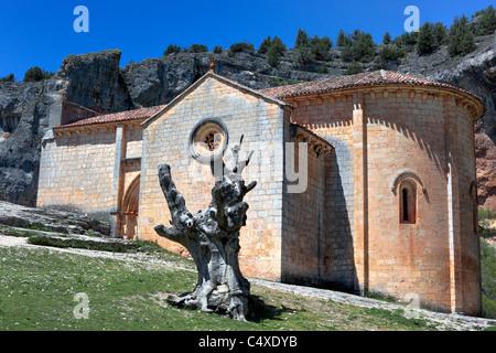 Church of san Bartolomeo, Ucero, Soria, Castile and Leon, Spain - Stock Photo