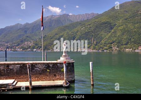 old pier on the Isole di Brissago in Ticino - Stock Photo