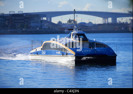 Brisbane Citycat ferry Queensland Australia - Stock Photo