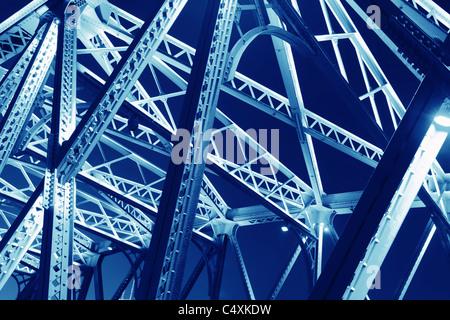 Steel structure for use as background - Stock Photo