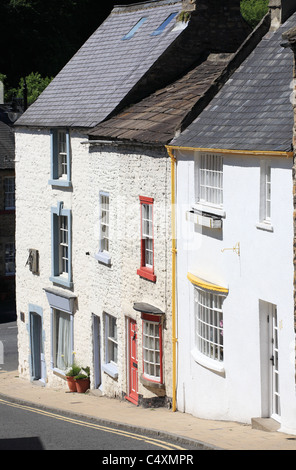 Georgian houses within Bridge Street, Richmond, North Yorkshire, England, UK - Stock Photo