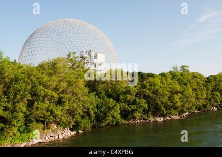 The Biosphère is a museum in Montreal dedicated to environment. - Stock Photo