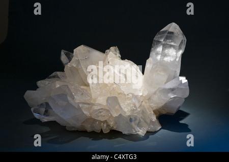 Rock crystal aggregate, Brazil - Stock Photo